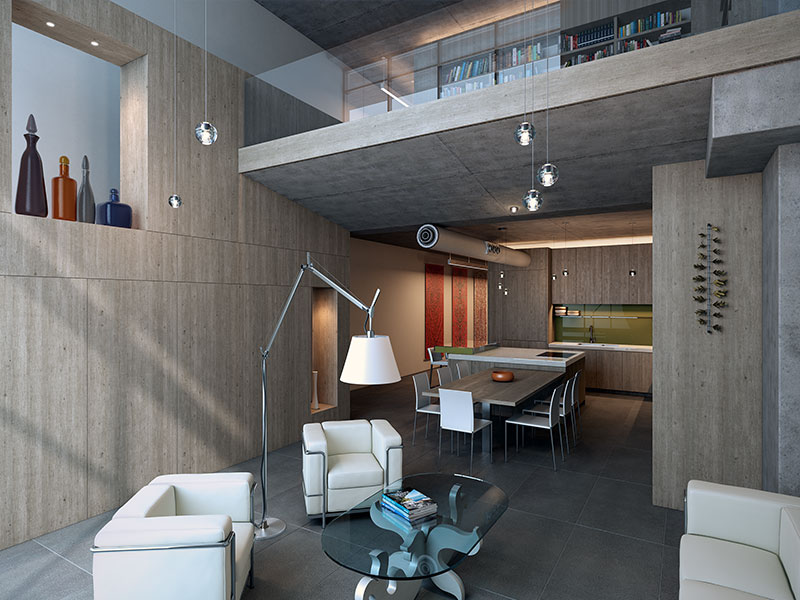 Austin City Lofts Architectural Rendering