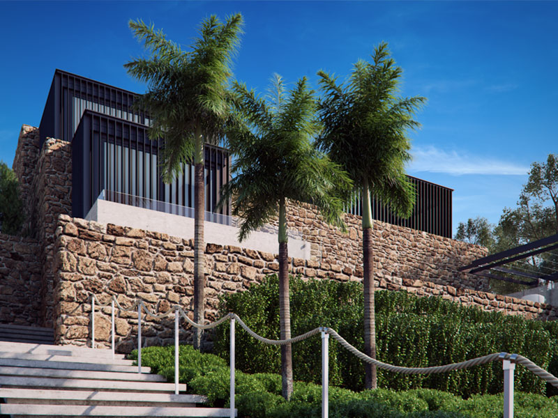 Local Rock House Arquitectural Rendering
